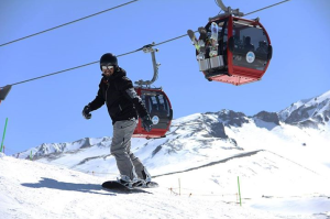 Skiing on Erciyes Mountain