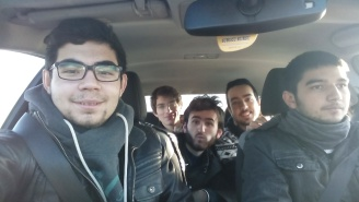 Taha and friends in car