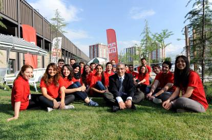 Professors at the Abdullah Gül University, approachable, fun classes, AGU information days