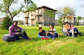 Abdullah Gül University, green area, student dorms