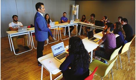 Classroom at the Abdullah Gül University, classes, courses AGU