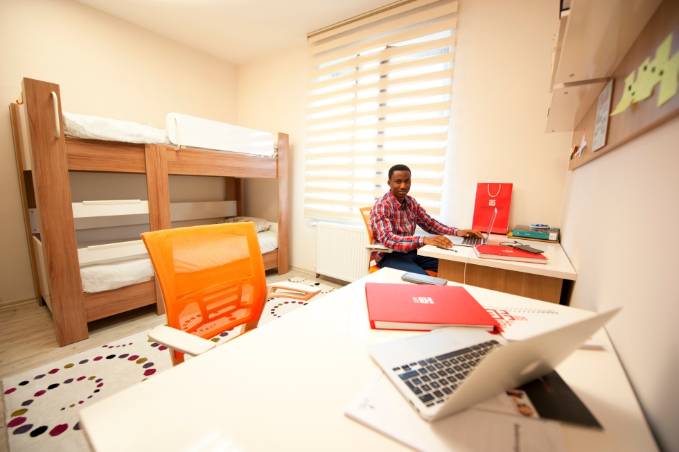 AGU dorms, Abdullah Gül University accommodation, International Student, AGU Student Village