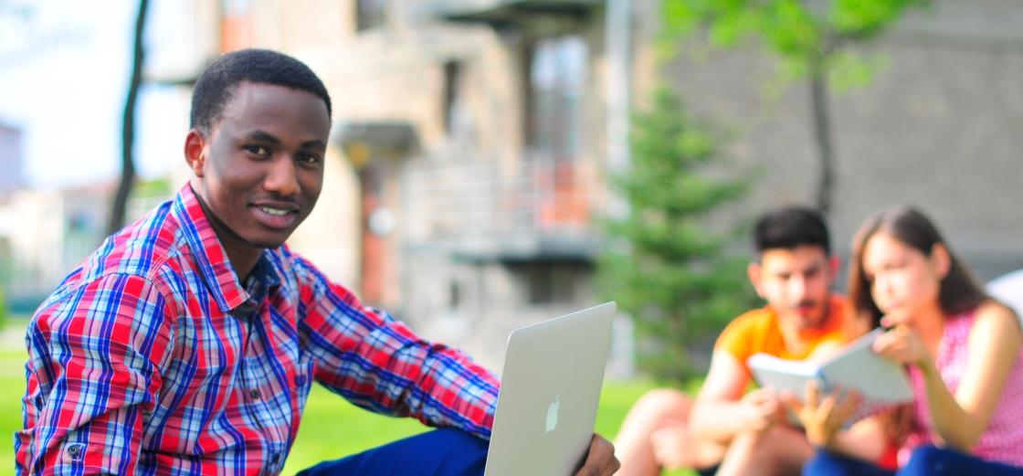 Omar, first international graduate student from the Abdullah Gül University, in the AGU Student Village