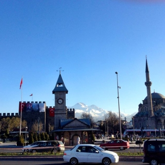 Abdullah Gül University, Kayseri, city, meydan, tram, Erciyes, mountain, castle