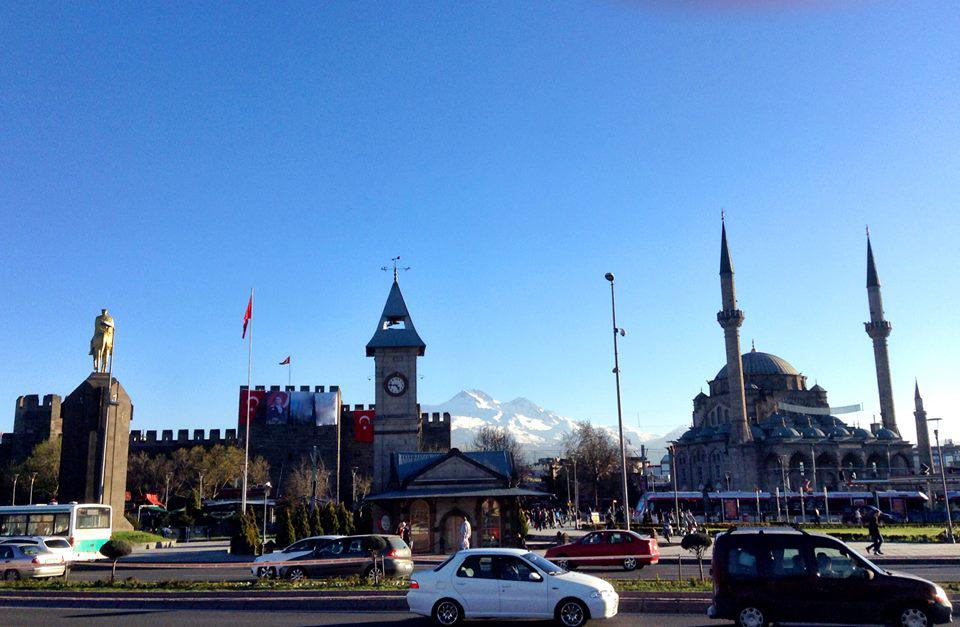 Abdullah Gül University, Kayseri, city, meydan, tram, Erciyes, mountain, castle