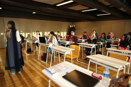 AGU, University, classroom, study, desks, Abdullah Gül University, Programs, English, Hands-on Training