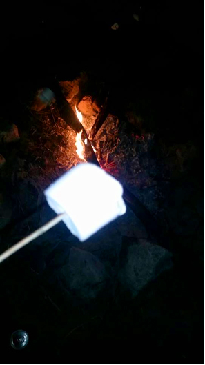 Cappadocia, camping trip, campfire, marshmallow, night, valley