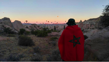 Abdullah Gül University, AGU, Morocco, flag, international students, Cappadocia, sunrise, hot air ballon