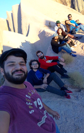 Abdullah Gül University, AGU, students, group, friends, camping, cappadocia, night in the valley