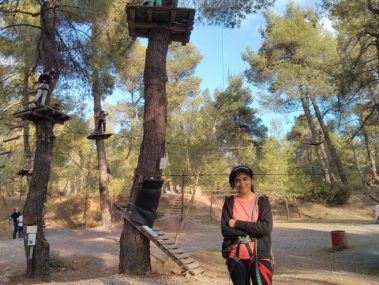 Abdullah Gül University, AGU, student, Hina, erasmus, exchange, Greece, Athens, adventure park