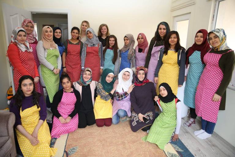 Abdullah Gül University, AGU, students, volunteer, SivilLAB, project, Youth Factory, Open Arms Kayseri