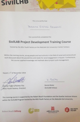 Abdullah Gül University, students, SivilLAB, Project Development Training Course, non-academic transcript, soft skills, certificate