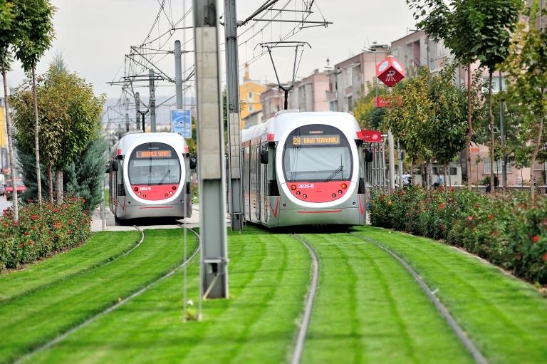 Kayseri, Turkey, Kayseray, tram, public, transportation