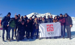 AGU, international students, snow, winter, Mount Erciyes, skiing, snowboarding