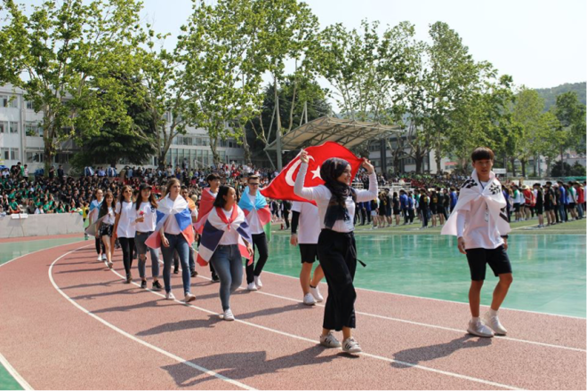Solbridge Sports days, AGU, Abdullah Gül University, student, exchange program, Business Administration, student, Feyza Çalışkan