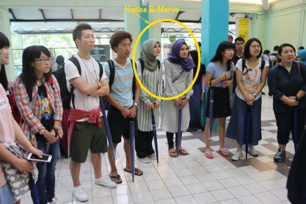 AGU Students Etulan, Luka, Merve and Hatice during Orientation at the University of Malaya