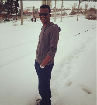 Abdullah Gül University, AGU, international student, Kenya, Graduate, student, snow, Kayseri, Turkey