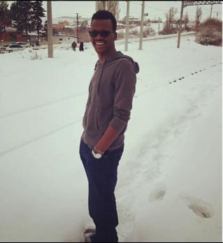 Abdullah Gül University, AGU, international student, Kenya, Graduate, student, snow, Kayseri, Turkey