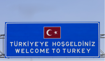 Türkiye'ye Hoşgeldiniz, Welcome to Turkey, roadsign, highway