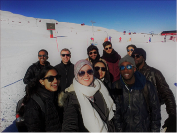 International, students, Abdullah gül University, AGU, ski trip