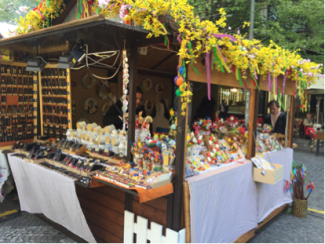 Easter Bazaar in the city and Prague Castle