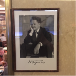 Nazım Hikmet in Café Slavia, Prague, Czech Republic